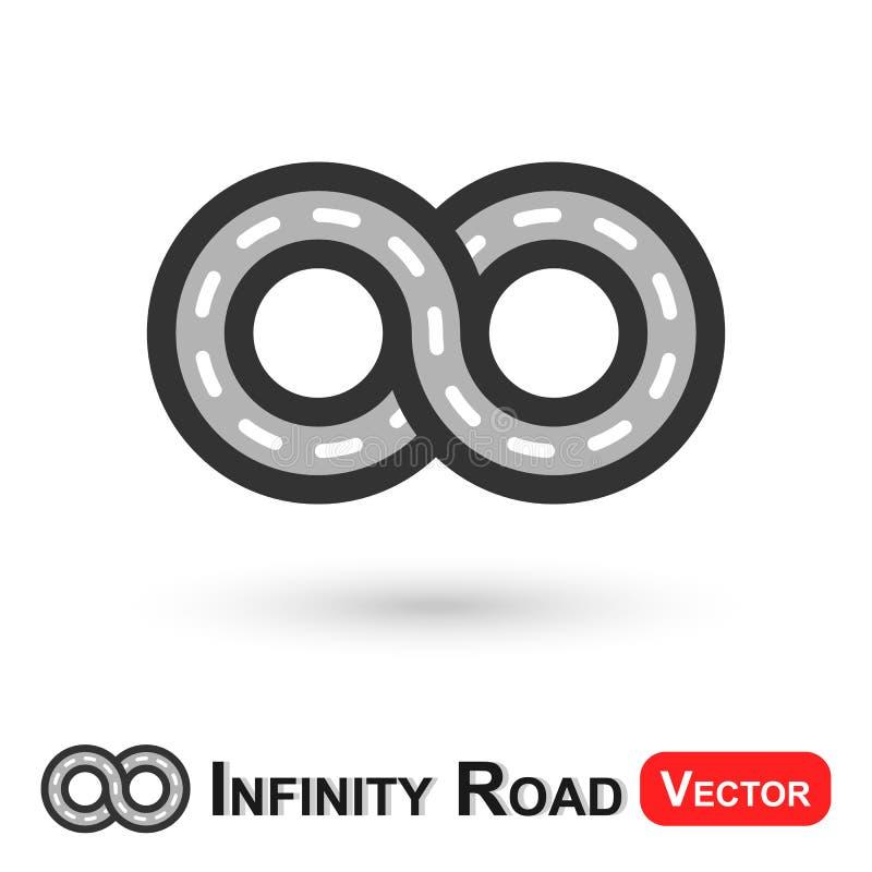Estrada da infinidade (curso infinito) ilustração royalty free
