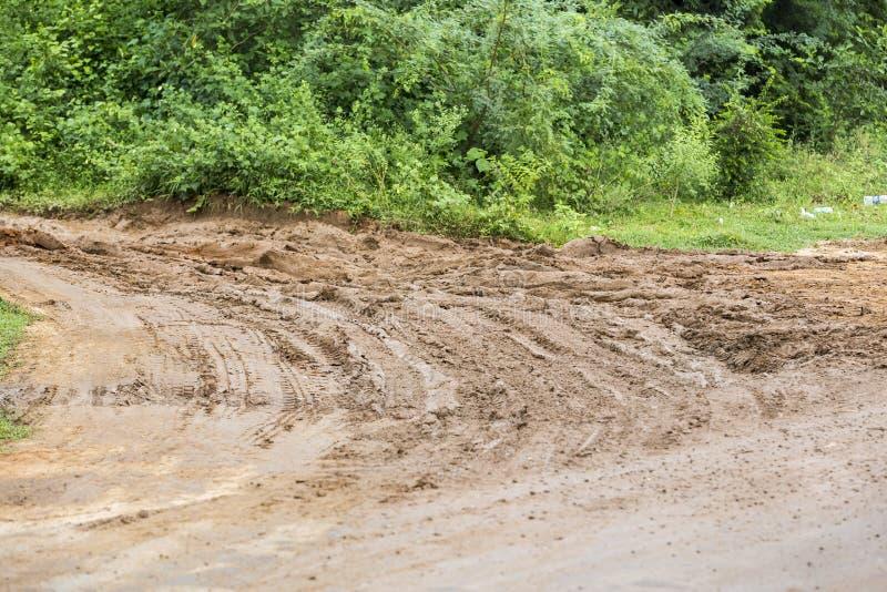 Estrada da lama após a chuva foto de stock royalty free