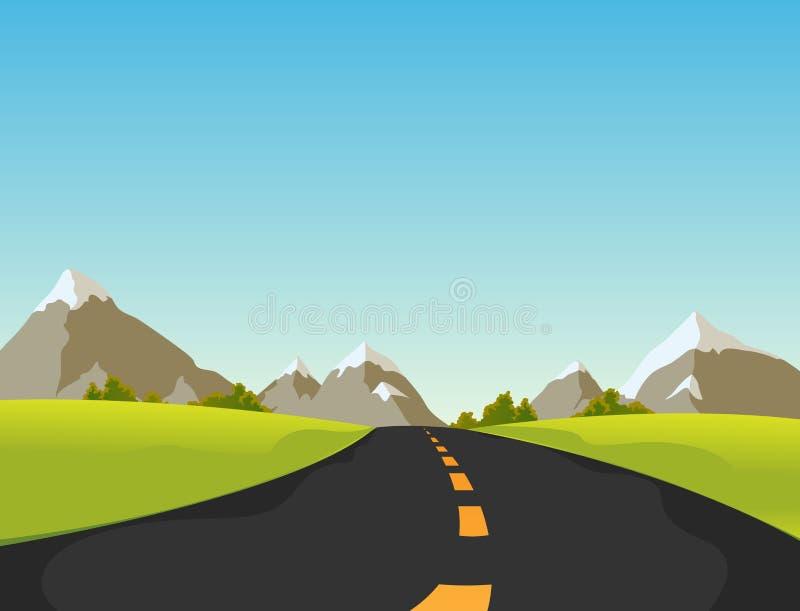 Estrada da montanha ilustração do vetor