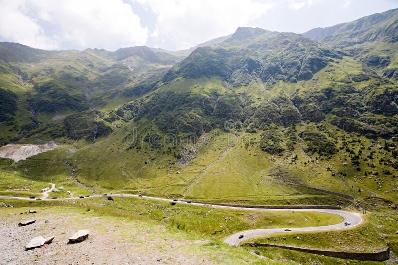 Estrada da montanha fotografia de stock