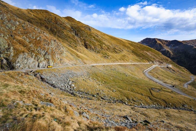 Estrada da montanha de Transfagarasan fotografia de stock