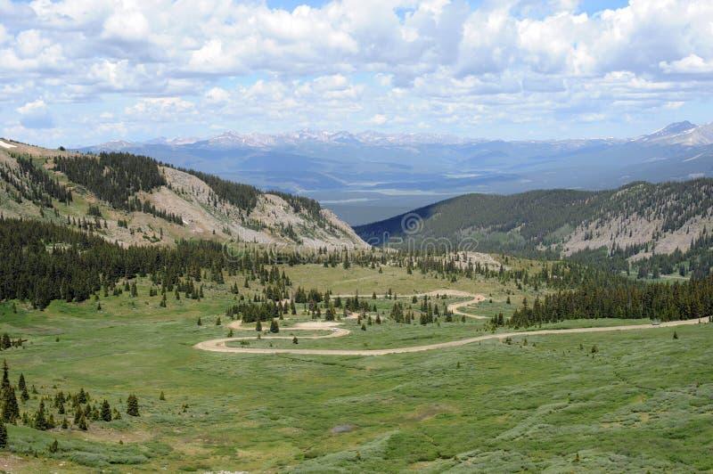 Estrada da montanha -- Passagem do Cottonwood, Colorado fotos de stock