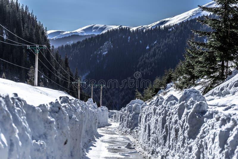 Estrada da neve! imagem de stock royalty free