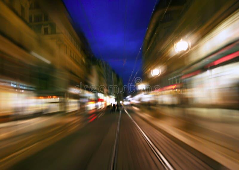 Estrada da noite fotografia de stock
