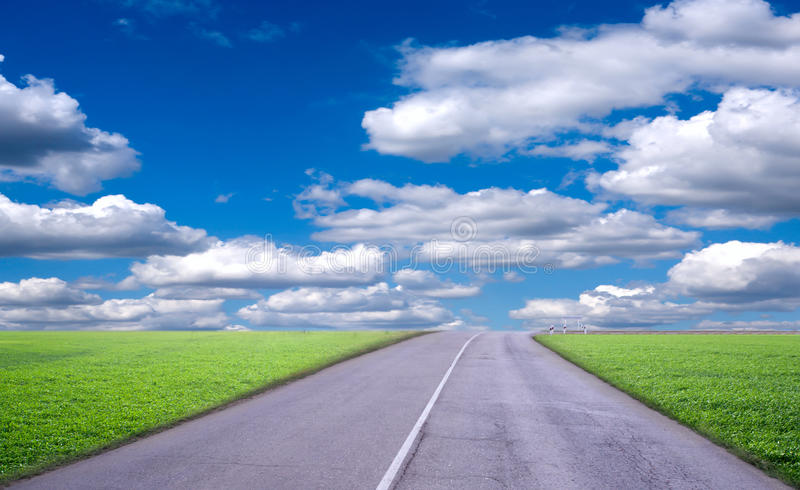Estrada da paisagem imagem de stock