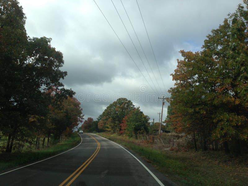 Estrada da parte traseira de Missouri fotografia de stock
