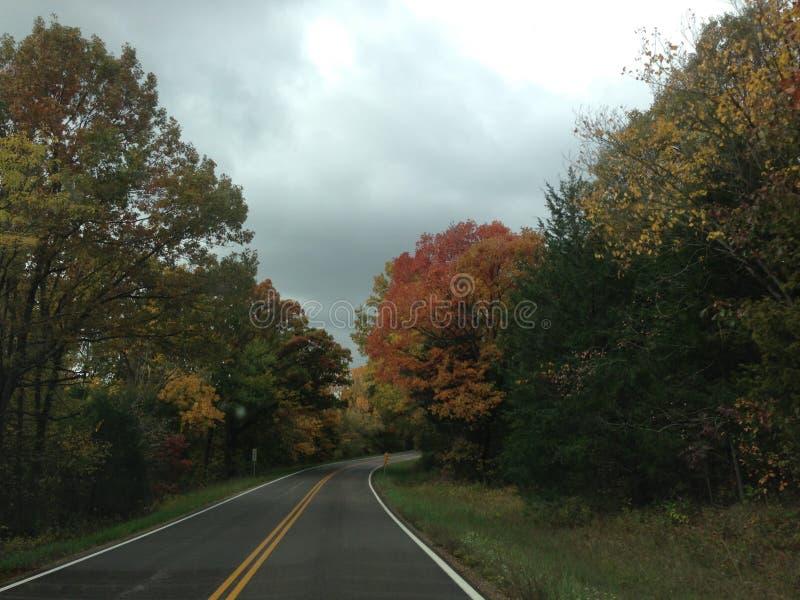 Estrada da parte traseira de Missouri imagens de stock