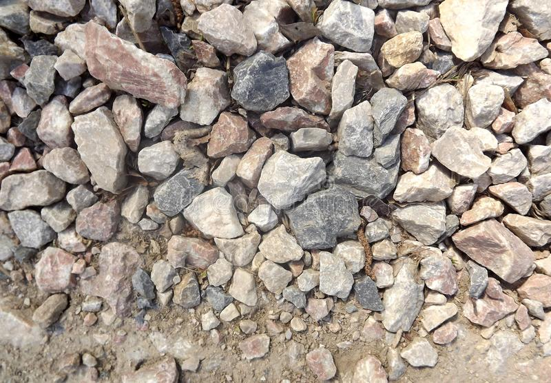 A estrada da pedra do granito imagem de stock
