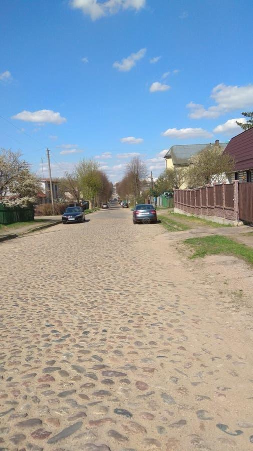 Estrada da pedra no Minsk imagem de stock royalty free