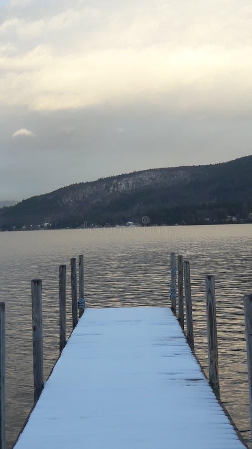 estrada da praia de george do lago imagem de stock