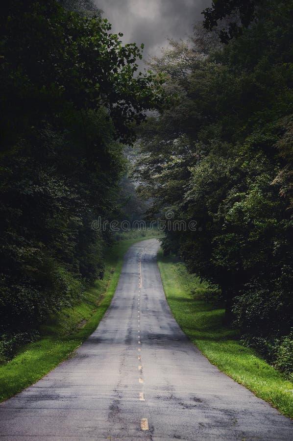 Estrada da tempestade. imagens de stock