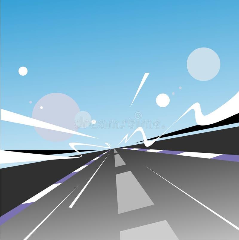 Estrada da velocidade ilustração stock