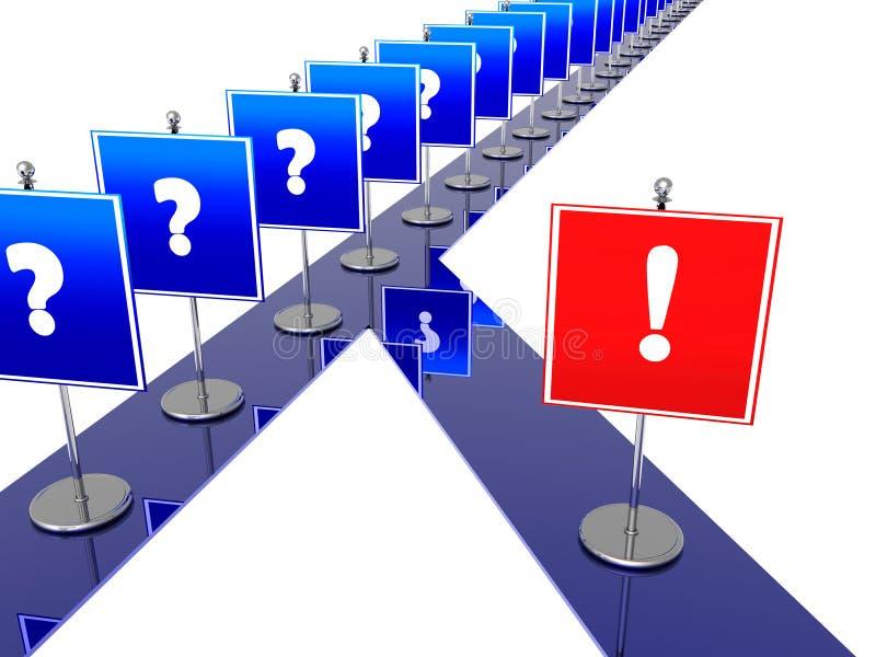 Estrada das decisões corretas ilustração do vetor