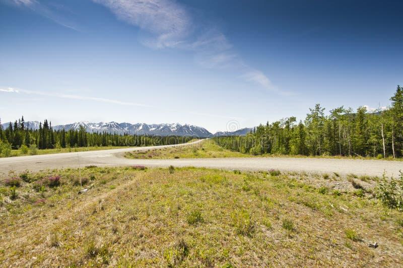 Estrada de Alaska imagem de stock royalty free