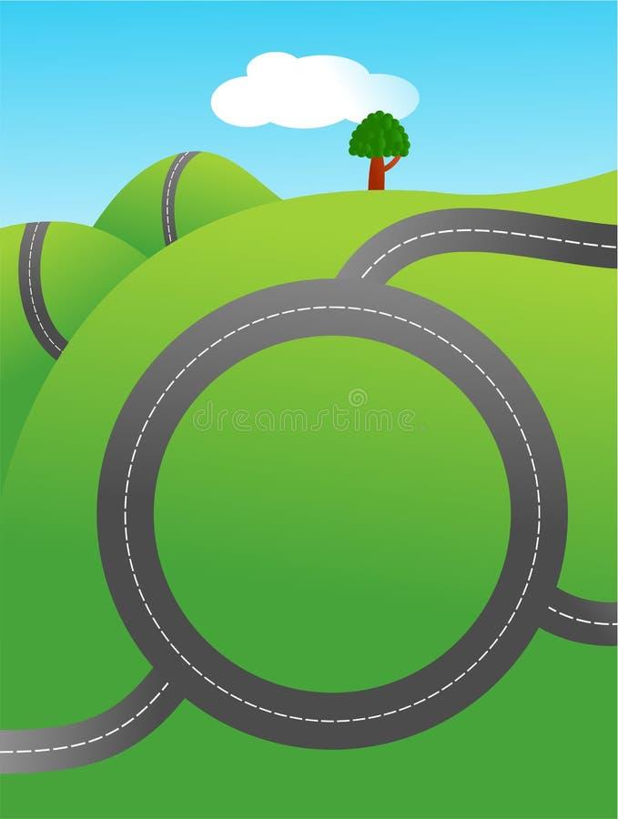 Estrada de anel ilustração royalty free