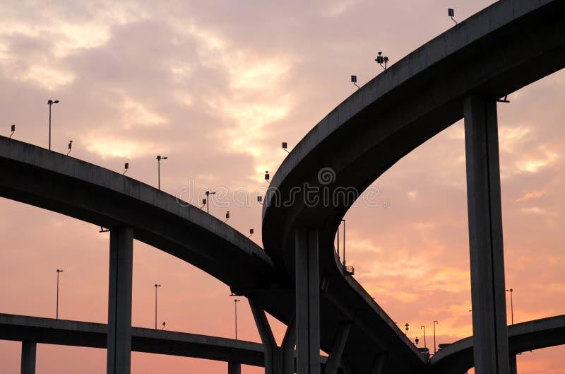 A estrada de anel industrial fotografia de stock royalty free