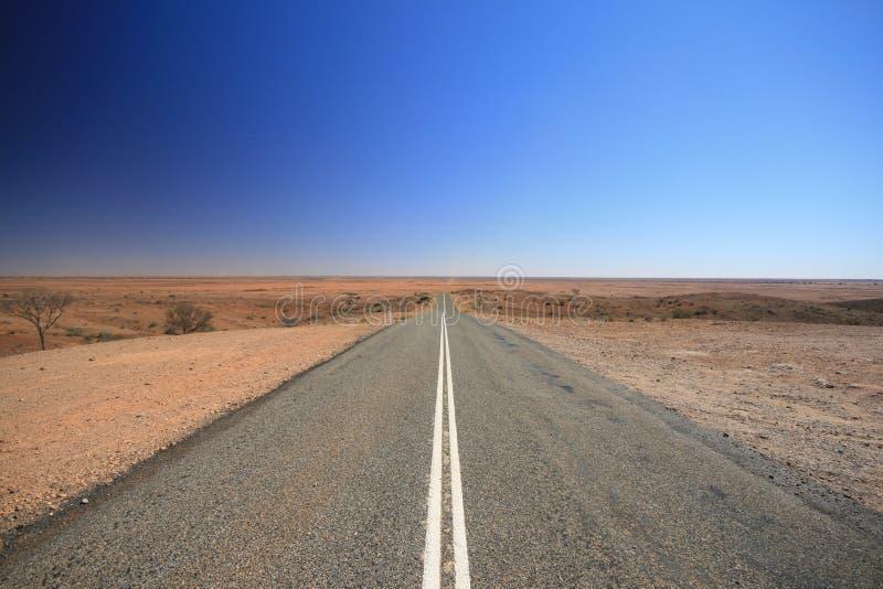 Estrada de Austrália do interior imagem de stock