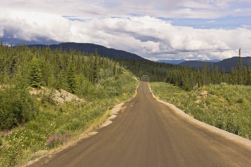 Estrada de Campbell no Yukon, Canadá foto de stock royalty free