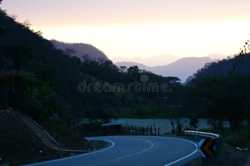 Estrada de Canchaque - Piura - Peru imagens de stock