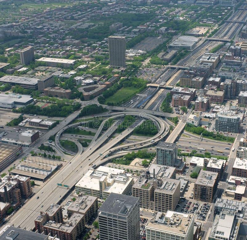 Estrada de Chicago fotografia de stock royalty free