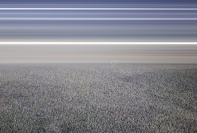 Estrada de cidade vazia horizontal sem o fundo do tráfego fotos de stock royalty free