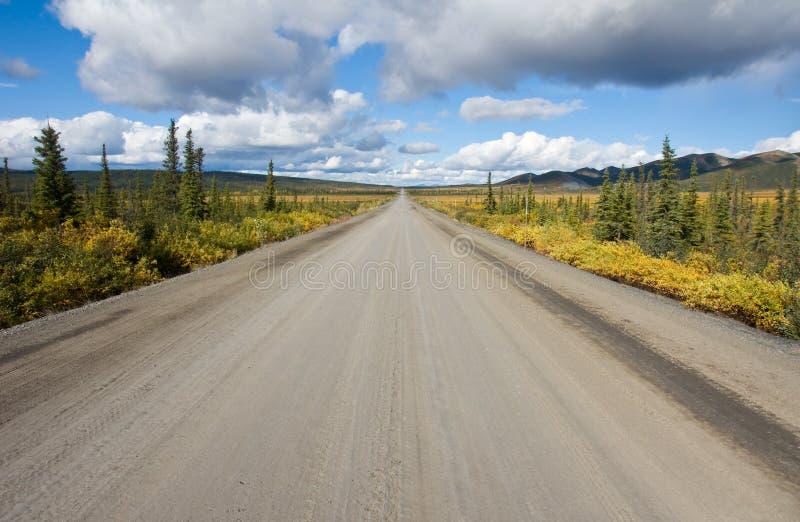 Estrada de Dempster, Yukon foto de stock royalty free