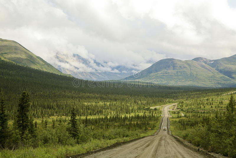 Estrada de Denali, Alaska EUA imagens de stock