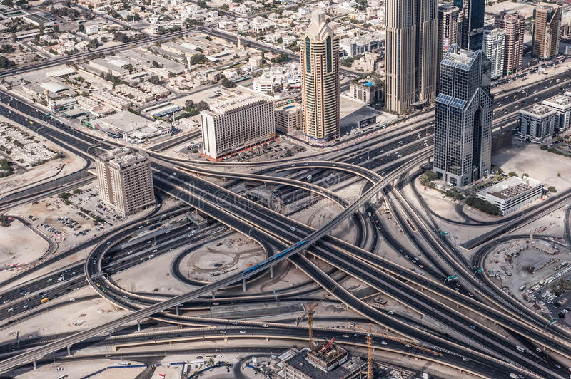 Estrada de Dubai imagem de stock royalty free