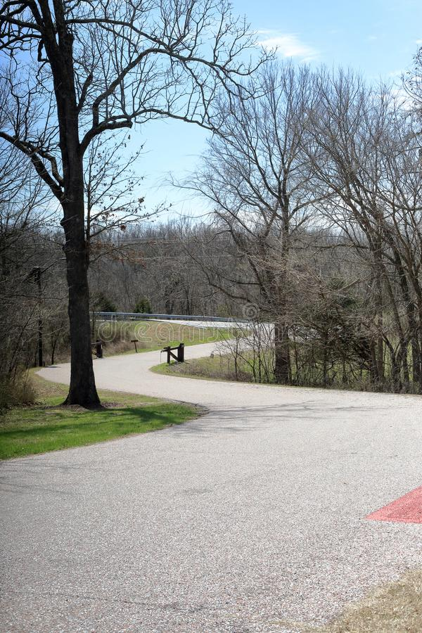 Estrada de enrolamento, Wilson Creek National Battlefield foto de stock
