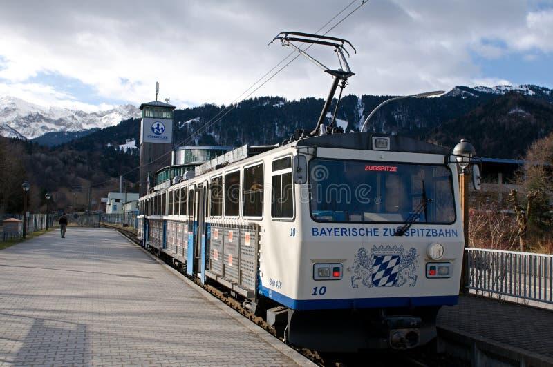 A estrada de ferro bávara de Zugspitze imagem de stock royalty free