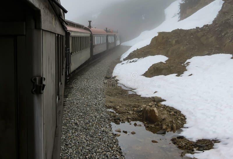 Estrada de ferro branca da passagem imagem de stock royalty free