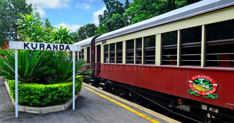 Estrada de ferro cênico de Kuranda em Queenland Austrália fotos de stock royalty free