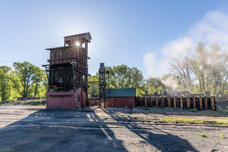 Estrada de ferro c?nico de Cumbres & de Toltec imagem de stock royalty free