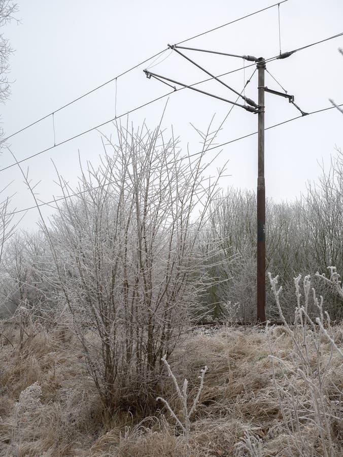Estrada de ferro congelada imagens de stock royalty free