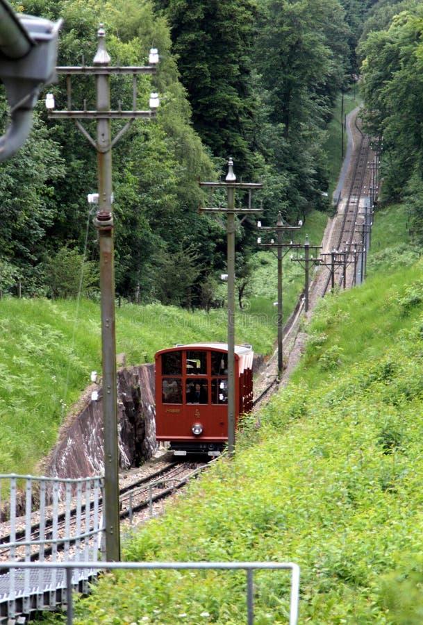 Estrada de ferro da montanha de Heidelberg imagens de stock royalty free
