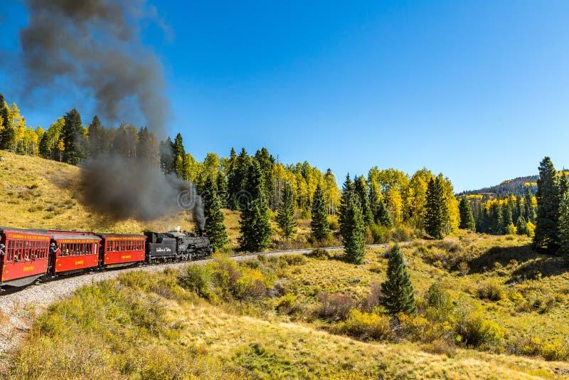 Estrada de ferro de Cumbres & de Toltec fotografia de stock
