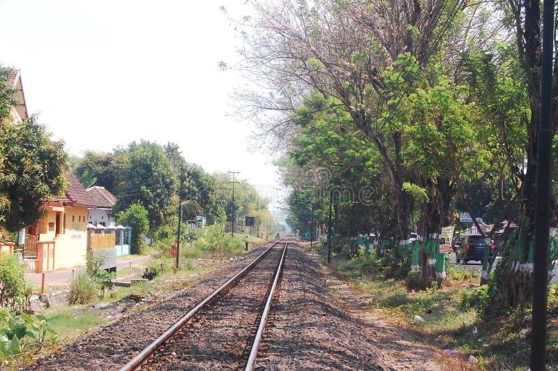 Estrada de ferro de Indonésia imagem de stock royalty free