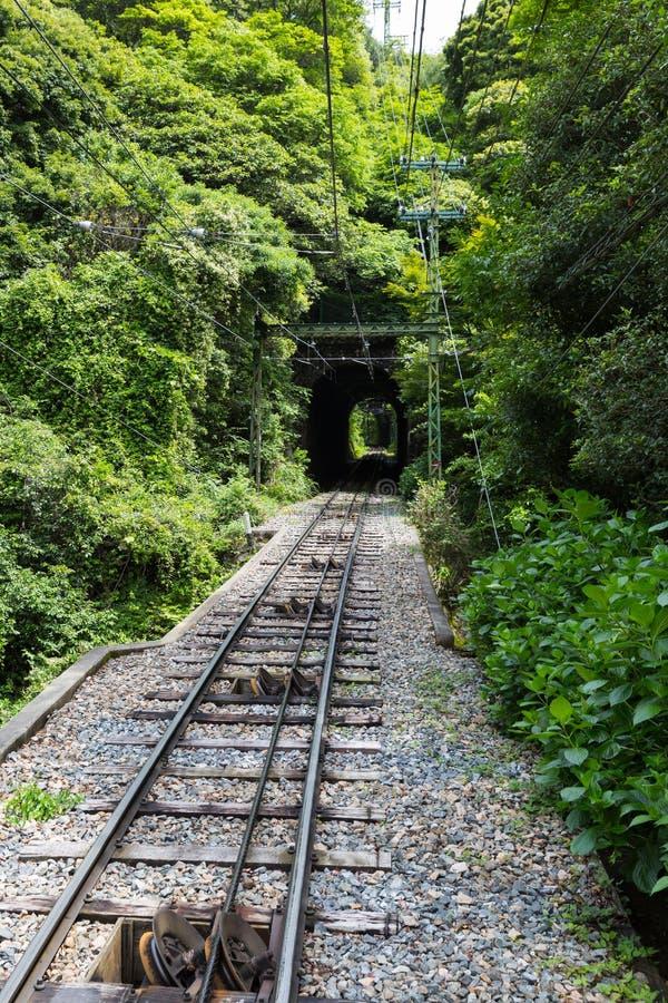 Estrada de ferro de Maya Cable Car no Maya e no Rokko da montagem imagens de stock