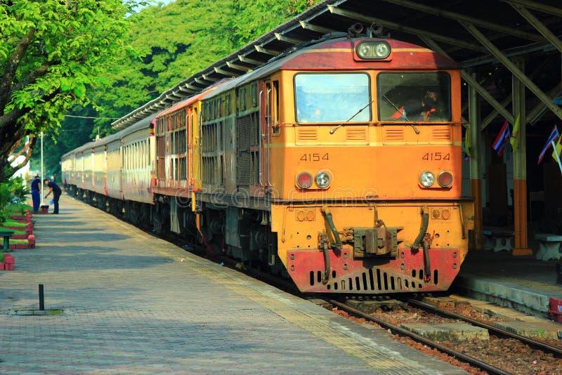 Estrada de ferro de Tailândia fotografia de stock royalty free