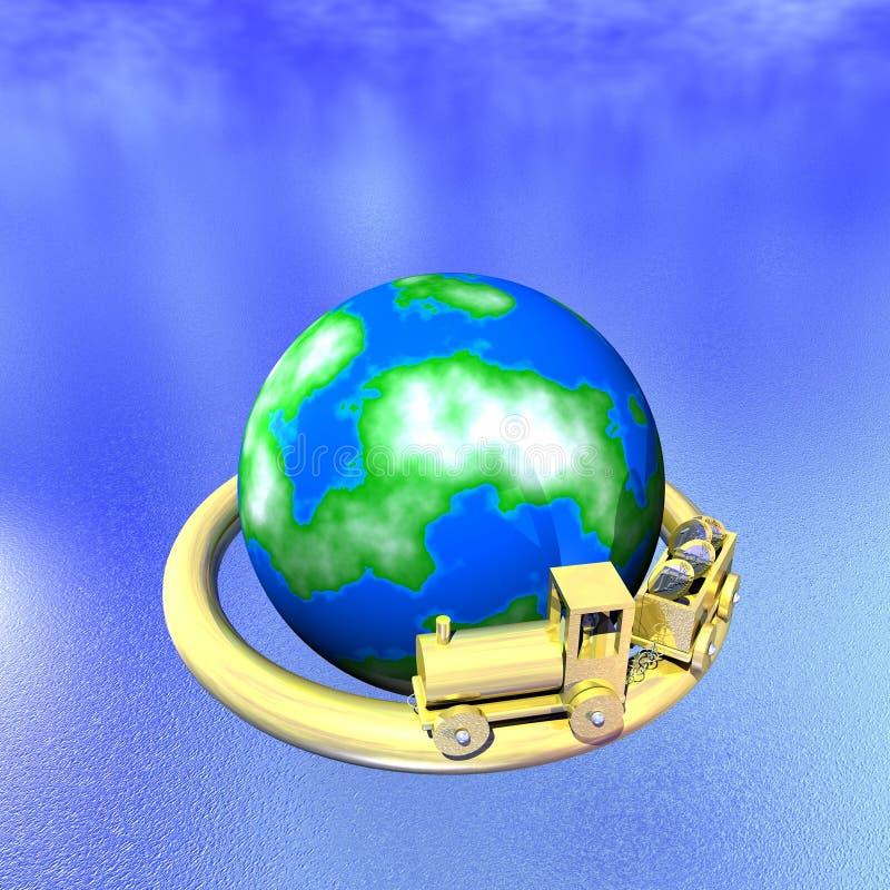 Estrada de ferro do modelo da finança do negócio ilustração royalty free