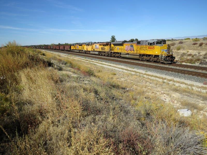 Estrada de ferro do Pacífico da união fotografia de stock