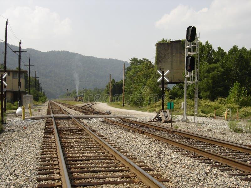 Estrada de ferro do vale de Kanawha fotos de stock