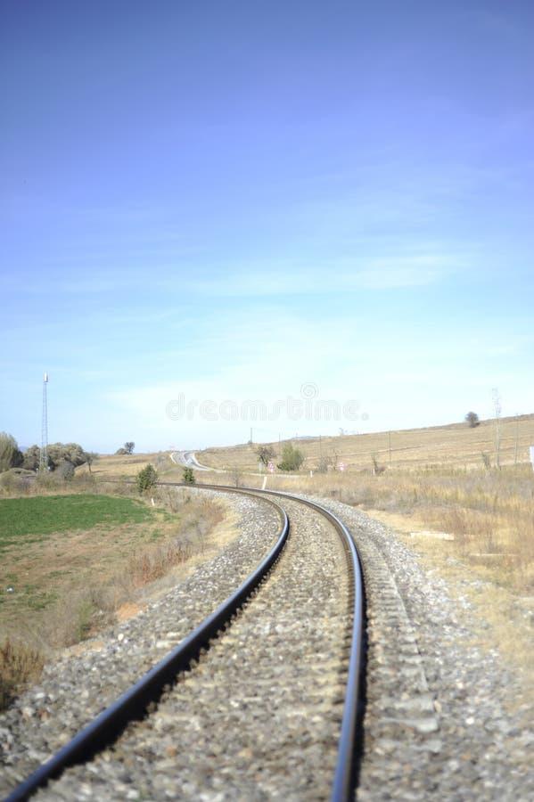 Estrada de ferro em áreas rurais foto de stock royalty free