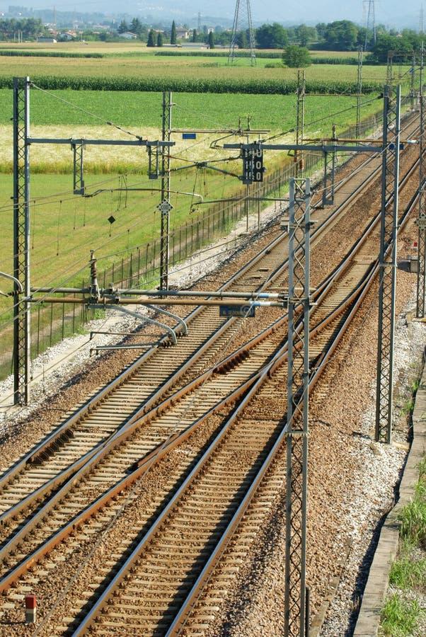 Estrada de ferro em Italy imagens de stock royalty free