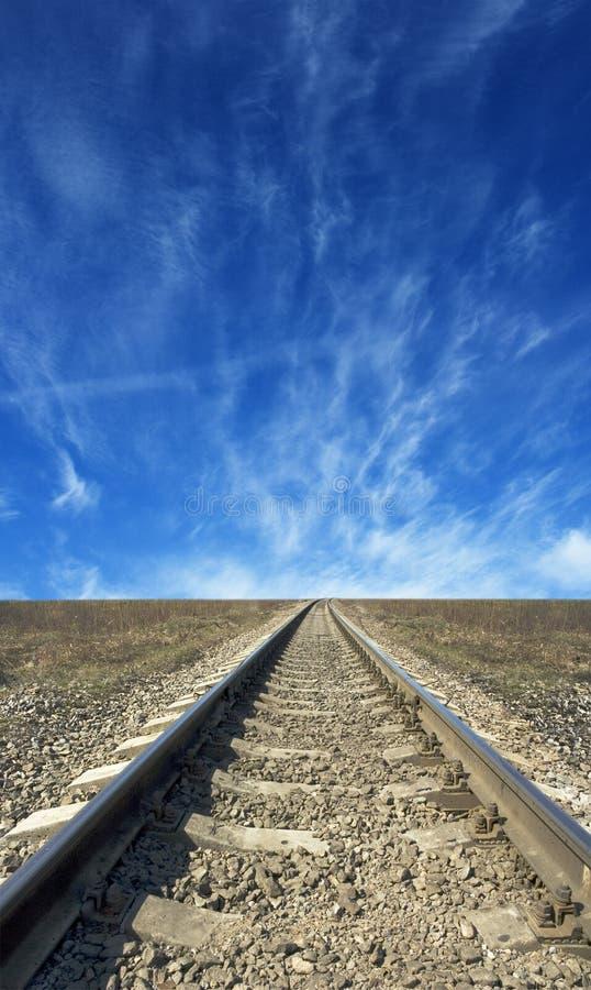 Estrada de ferro a em nenhuma parte foto de stock