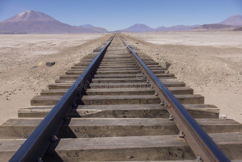 Estrada de ferro a em nenhuma parte imagem de stock