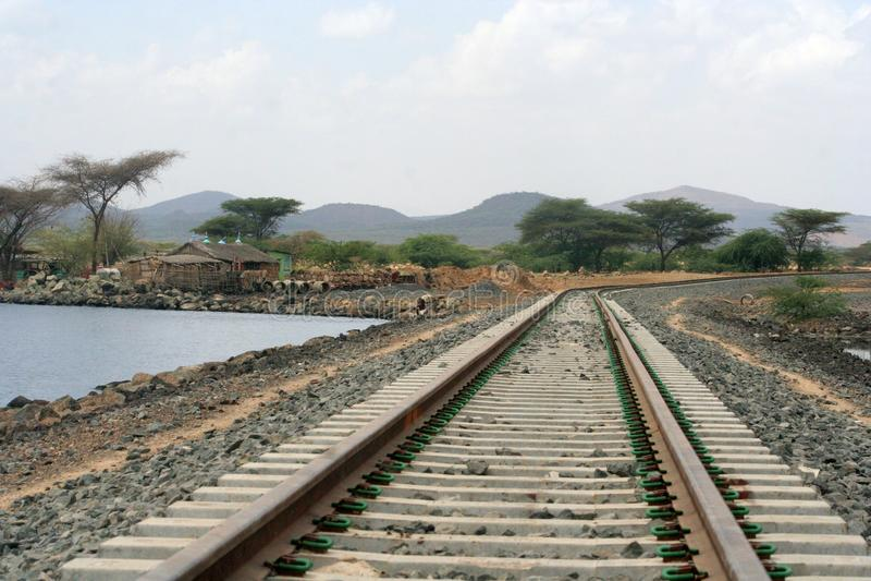 Estrada de ferro etíope fotos de stock