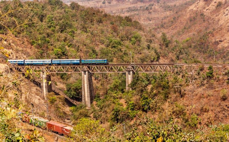 Estrada de ferro indiana fotografia de stock