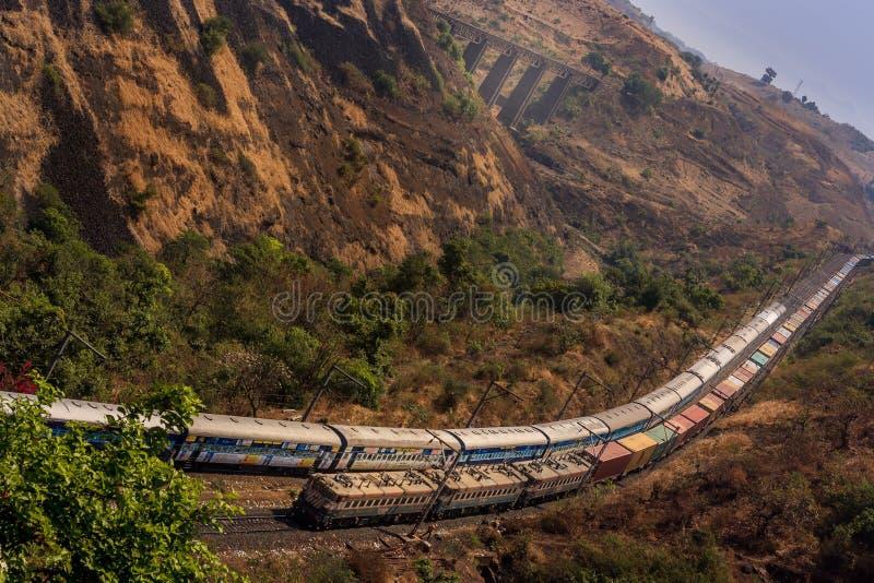 Estrada de ferro indiana fotos de stock