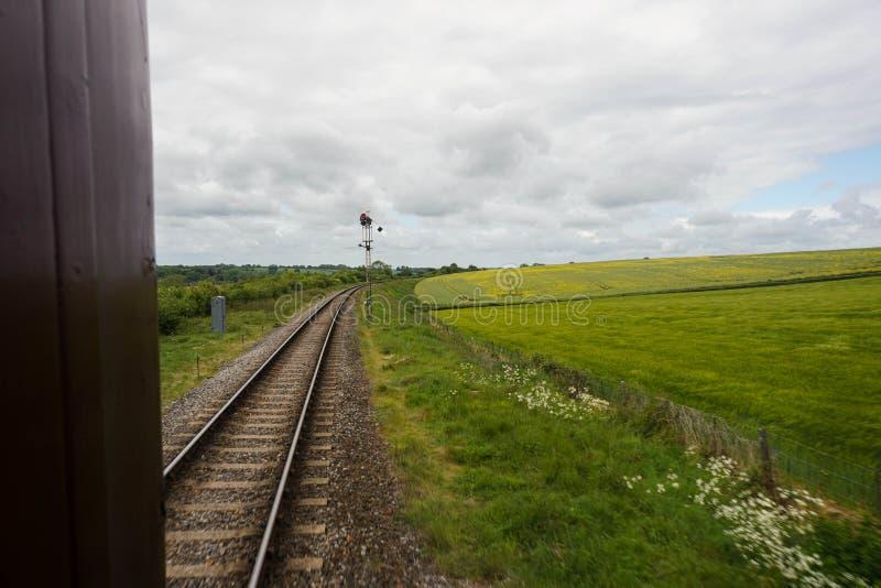 Estrada de ferro meados de do vapor de Hants fotografia de stock